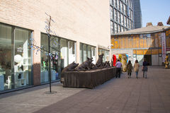 Азия Китай, Пекин, район искусства улицы 22 юаней, конструирует новаторскую культурную улицу Стоковое фото RF