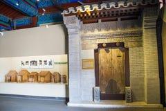 Азия Китай, Пекин, старое ¼ Œgatehouse hallï выставки ŒIndoor ¼ Museumï архитектуры Стоковая Фотография RF