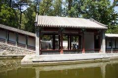 Азия Китай, Пекин, душистый парк холма, видит Shinsaibashi, двор сада стиля Jiangnan Стоковая Фотография RF