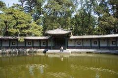 Азия Китай, Пекин, душистый парк холма, видит Shinsaibashi, двор сада стиля Jiangnan Стоковые Изображения RF
