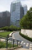 Азия, Китай, Пекин, финансовый район CBD центральный, международное дело сложное, современная архитектура города Стоковое Изображение RF
