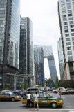 Азия, Китай, Пекин, финансовый район CBD центральный, улица, высокие здания и современная архитектура Стоковое Изображение RF