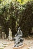 Азия, Китай, Qingdao, Шаньдун, скульптура, Pu Songling стоковое изображение