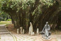 Азия, Китай, Qingdao, Шаньдун, скульптура, Pu Songling стоковые изображения rf