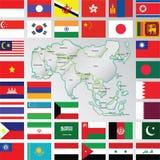 Азия Стоковое Фото