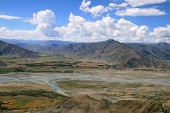 Азия landscapes Тибет Стоковые Изображения RF
