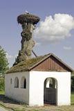 аисты крыши церков Стоковое Изображение RF