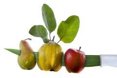 Айва, груша, яблоко Стоковое Изображение