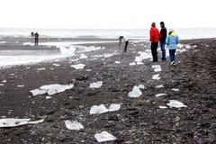 Айсберги в лагуне n ³ rlà ¡ Jökulsà Стоковое Изображение