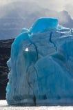 Айсберги в воде, леднике Perito Moreno ареальных стоковые изображения rf