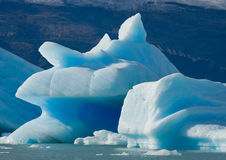 Айсберги в воде, леднике Perito Moreno ареальных Стоковое Изображение