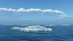 Айсберги в открытом море Стоковое фото RF