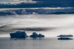 Айсберги в Narsuaq Стоковое Фото