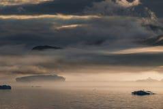 Айсберги в Narsuaq Стоковое фото RF