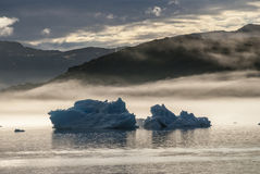 Айсберги в Narsuaq Стоковая Фотография