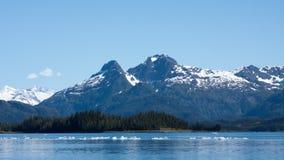 Айсберги в Prince William Sound Стоковое Фото