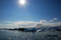 айсберг Исландия Стоковые Изображения