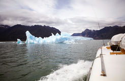 Айсберг на лагуне San Rafael, Патагония, Чили Стоковое фото RF