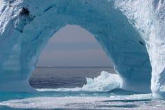 Айсберг с свободного полета Гренландии Стоковые Изображения RF