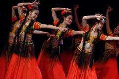 Академии танца Uygur танца ` s детей испытания розовой Пекина сортируя выставка Цзянси достижения выдающего уча стоковое фото rf