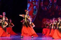 Академии танца Uygur танца ` s детей испытания розовой Пекина сортируя выставка Цзянси достижения выдающего уча стоковые фотографии rf