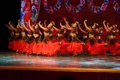 Академии танца Uygur танца ` s детей испытания розовой Пекина сортируя выставка Цзянси достижения выдающего уча стоковая фотография