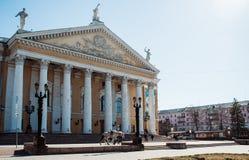 Академический театр положения Челябинска оперы и балета MI Glinka стоковые изображения