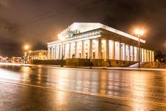 Академичный театр драмы a S Pushkin, театр Alexandrinsky, перспектива Nevsky, Санкт-Петербург, Россия стоковые изображения