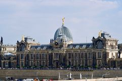 Академия художеств положения в Дрездене стоковое фото rf