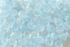 Аквамарин голуб Естественный камень голубой аквамарин Backgr Стоковые Фотографии RF