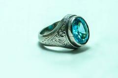 Аквамарин кольца Стоковое Фото
