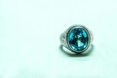 Аквамарин кольца Стоковые Фото