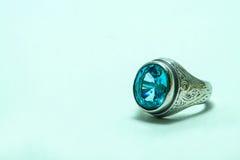 Аквамарин кольца Стоковая Фотография