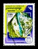 Аквамарин, serie минералов, около 1998 Стоковые Фотографии RF