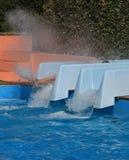 Аквапарк, водные горки Стоковые Изображения