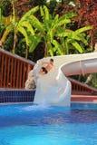 Аквапарк в курорте Стоковые Фотографии RF