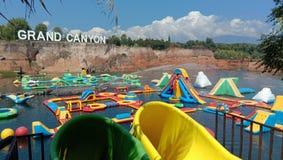 Аквапарк гранд-каньона стоковые фото