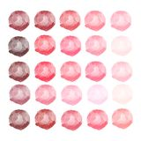 Акварели красные, розовые шарики Комплект цветастой руки акварели покрасил круг изолированный на белизне иллюстрация штока
