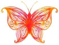 акварели покрашенные бабочкой Стоковое Фото