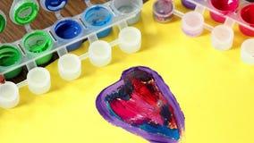Акварели смешивания палитры Краски акварели ` s детей Красочная коробка акварели акции видеоматериалы