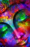 Акварель Будды головы стоковое изображение rf