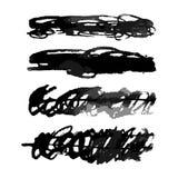 Акварель вектора Scribbles комплект щеток иллюстрация вектора