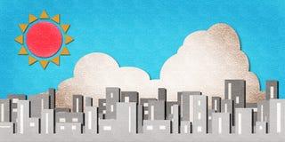 акварель времени бумаги дня города Стоковая Фотография RF