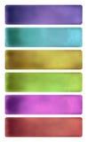 акварель знамени цветастым текстурированная комплектом иллюстрация вектора