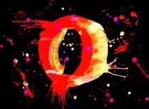 акварель краски числа неоновая иллюстрация штока