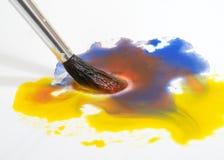 акварель краски щетки Стоковое Фото