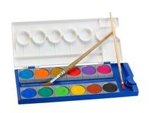 акварель красок щеток Стоковые Фотографии RF