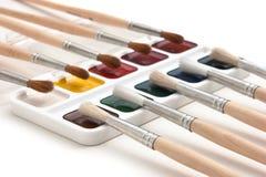 акварель красок щеток Стоковое Фото