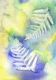 акварель листьев Стоковые Фотографии RF