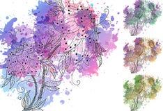 акварель орхидей Стоковые Фотографии RF